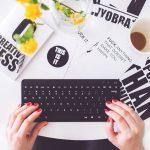 Pracovný stôl blogera