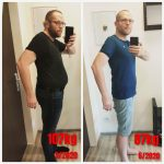 Rozdiel v postave, zo 107 na 87 kg